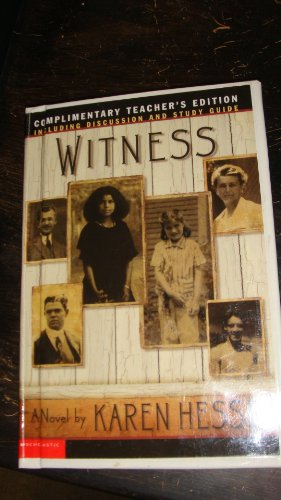 9780439460804: Witness (Including discussion and study guide)