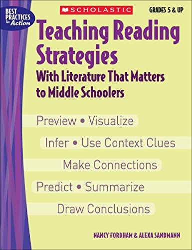 9780439465908: Teaching Reading Strategies With Literature That Matters to Middle Schoolers