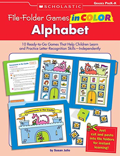 9780439465915: File-Folder Games in Color: Alphabet: 10 Ready-to-Go Games That Help Children Learn and Practice Letter-Recognition Skills-Independently