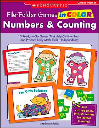 9780439465922: Numbers & Counting Grades PreK-K: 10 Ready-to-go Games That Help Children Learn and Practice Early Math Skills-Independently! (File-folder Games in Color)