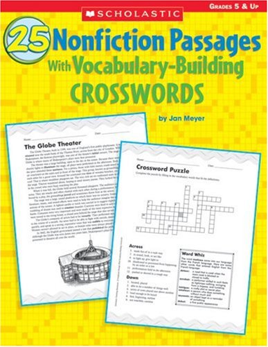 9780439468572: 25 Nonfiction Passages With Vocabulary-Building Crosswords