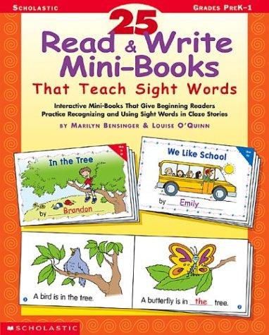 9780439491679: 25 Read & Write Mini-books That Teach Sight Words