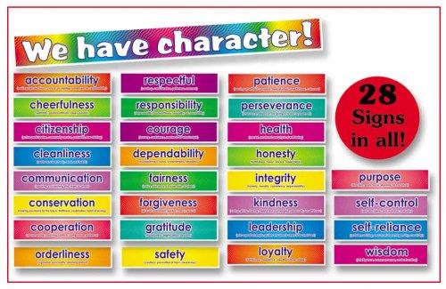 9780439492874: Character Signs! Bulletin Board