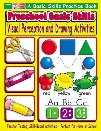 9780439500265: Preschool Basic Skills: Visual Perception & Drawing Activities