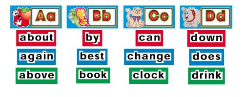 9780439508407: Alphabet Cards & Word Wall Signs Word Wall
