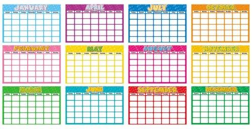 9780439509749: 12 Months Blank Calendar Bulletin Board