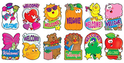 9780439509817: 12 Welcome Signs Bulletin Board
