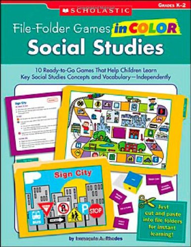 9780439517638: File-Folder Games in Color Social Studies: 10 Ready-to-Go Games That Help Children Learn Key Social Studies Concepts and Vocabulary-Independently
