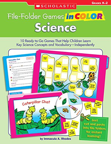 9780439517645: File-Folder Games in Color: Science: 10 Ready-to-Go Games That Help Children Learn Key Science Concepts and Vocabulary-Independently