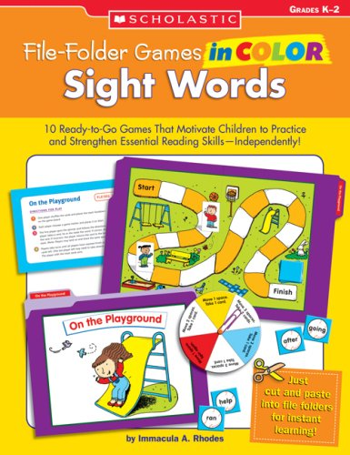 9780439517652: File-Folder Games in Color: Sight Words: 10 Ready-to-Go Games That Motivate Children to Practice and Strengthen Essential Reading Skills—Independently!