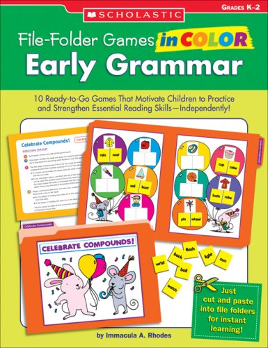 File-Folder Games in Color: Early Grammar : Immacula A. Rhodes