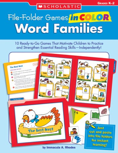 9780439517683: Word Families, Grades K-2 (File-Folder Games in Color)