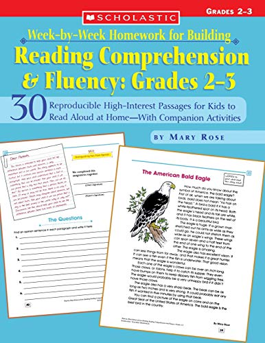 9780439517799: Week-by-Week Homework for Building Reading Comprehension & Fluency: Grades 2–3: 30 Reproducible High-Interest Passages for Kids to Read Aloud at ... Building Reading Comprehension and Fluency)