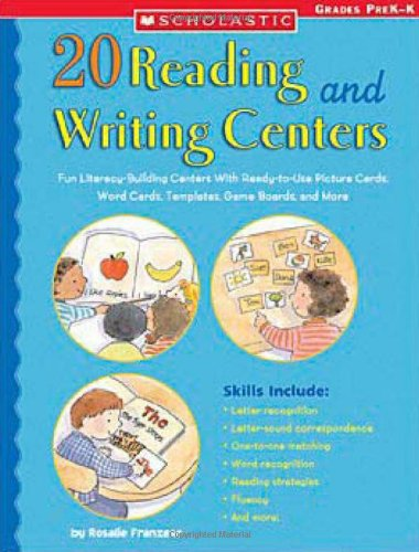 9780439517805: 20 Reading and Writing Centers: Fun Literacy-Building Centers With Ready-to-Use Picture Cards, Word Cards, Templates, Game Boards, and More