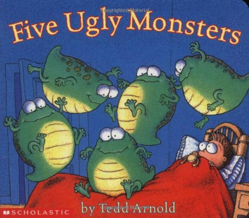 9780439524650: Five Ugly Monsters Board Book Reformat
