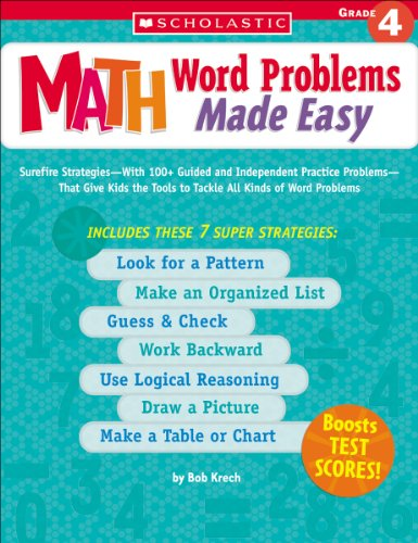 9780439529723: Math Word Problems Made Easy: Grade 4