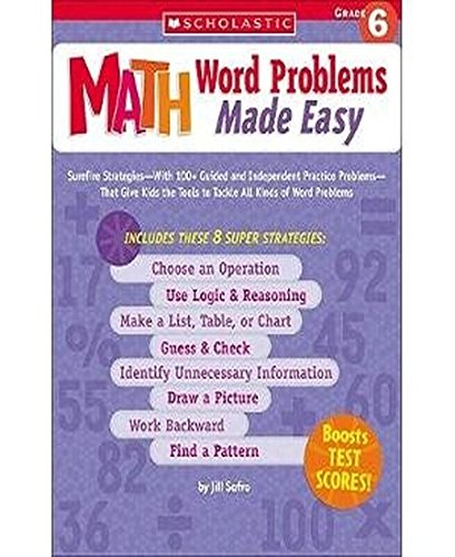 9780439529747: Math Word Problems Made Easy: Grade 6