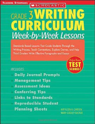 9780439529846: Grade 3 Writing Curriculum: Week-by-Week Lessons