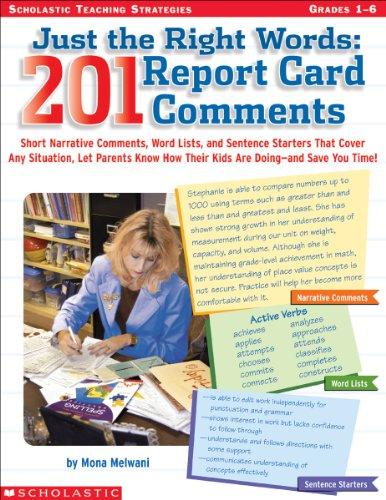 9780439531368: Just The Right Words: 201 Report Card Comments