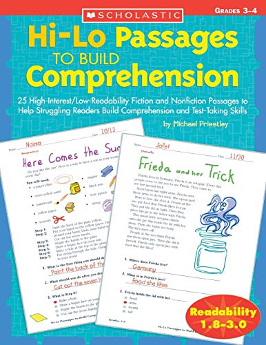 9780439548878: Hi-Lo Passages to Build Comprehension: Grades 3-4