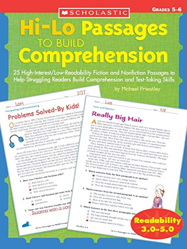 9780439548885: Hi/Lo Passages to Build Reading Comprehension Grades 4-5: 25 High-Interest/Low Readability Fiction and Nonfiction Passages to Help Struggling Readers