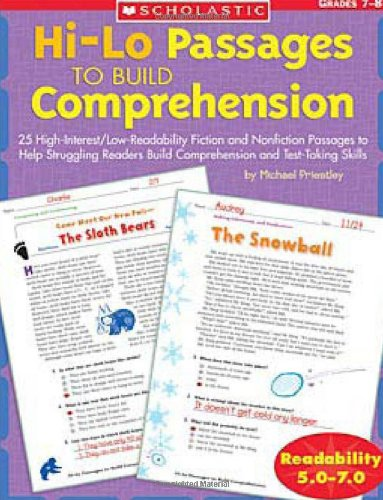 9780439548892: Hi-Lo Passages To Build Comprehension: Grades 7-8