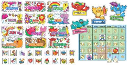 9780439549219: Seasonal Calendar Bulletin Board