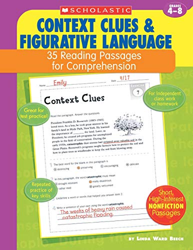 9780439554107: Context Clues & Figurative Language: 35 Reading Passages for Comprehension