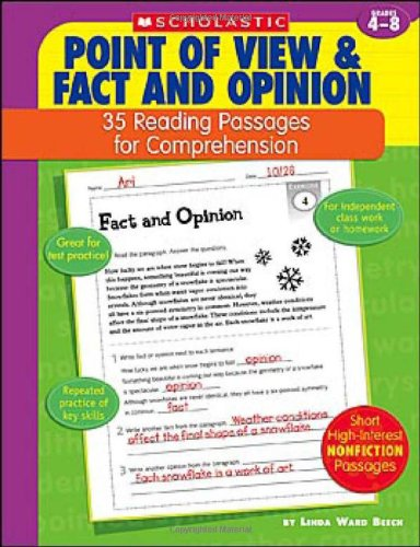 9780439554138: Point of View & Fact and Opinion: 35 Reading Passages for Comprehension; Grades 4-8