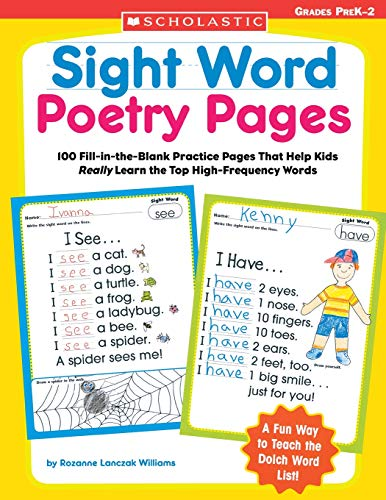 9780439554381: Sight Word Poetry Pages: 100 Fill-in-the-Blank Practice Pages That Help Kids Really Learn the Top High-Frequency Words