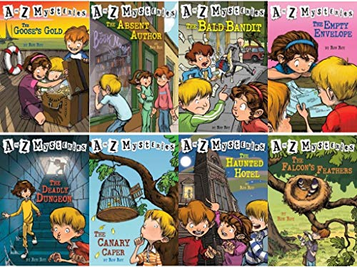 9780439555685: A to Z Mysteries Boxed Set, Books A to H: The Absent Author, The Bald Bandit, The Canary Caper, The Deadly Dungeon, The Empty Envelope, The Falcon's Feathers, The Goose's Gold, and The Haunted Hotel