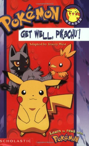 Pokemon Get Well Pikachu! #6 (Pokemon, Reader) 9780439559911 A full-color, easy-to-read format featuring one of the most popular characters all time--Pikachu--in an action-packed adventure perfect for beginning readers! IT'S SHOCKING! Pikachu is sick. He has too much electricity and he's zapping everything in sight! He cannot go outside and play. He has to rest. But that does not stop Team Rocket from trying to steal Pikachu! Can Pikachu's new friends help him hide? Or will Team Rocket finally catch Pikachu? READ IT YOURSELF!