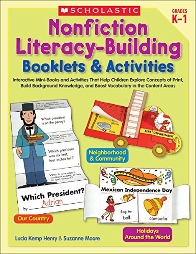 9780439567213: Nonfiction Literacy-Building Booklets & Activities: Interactive Mini-Books and Activities That Help Children Explore Concepts of Print, Build ... and Boost Vocabulary in the Content Areas