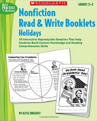 Nonfiction Read & Write Booklets: Holidays: 10: Sweeney, Alyse
