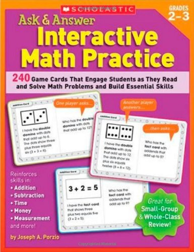 9780439572125: Ask & Answer Interactive Math Practice: Grades 2–3: 240 Game Cards That Engage Students as They Read and Solve Math Problems and Build Essential Skills