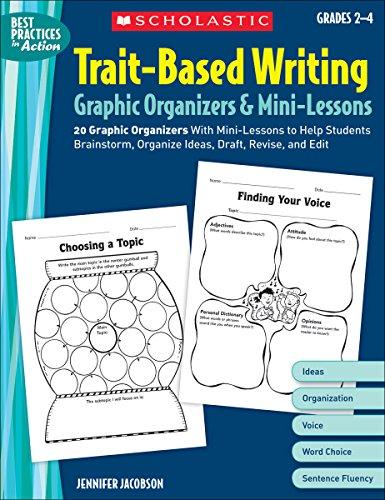 9780439572934: Trait-Based Writing: Graphic Organizers & Mini-Lessons: Grades 2-4