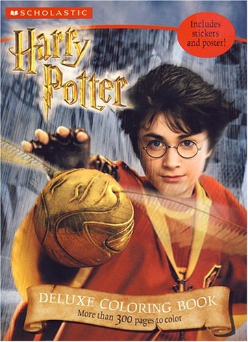 9780439587600: HARRY POTTER DELUXE COLORING BOOK.
