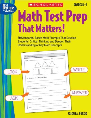 Math Test Prep That Matters! Grades K-2: Joseph A. Porzio