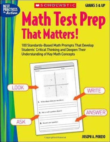 Math Test Prep That Matters! Grades 5: Porzio, Joseph A.,