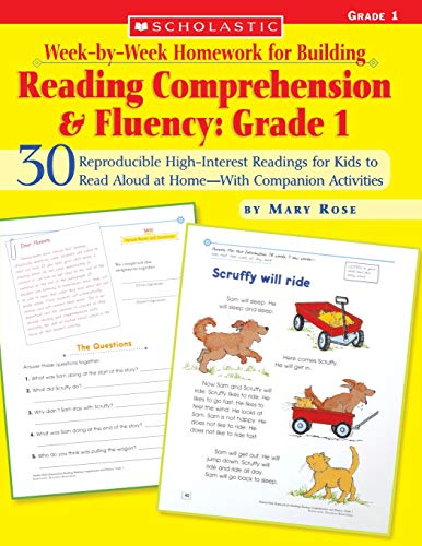 9780439616560: Week-by-week Homework for Building Reading Comprehension and Fluency: 30 Reproducible High-Interest Readings for Kids to Read Aloud at Home--With Companion Activities : Grade 1