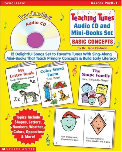 9780439618601: Teaching Tunes Audio CD and Mini-Books Set: Basic Concepts: 12 Delightful Songs Set to Favorite Tunes With Sing-Along Mini-Books That Teach Primary Concepts & Build Early Literacy