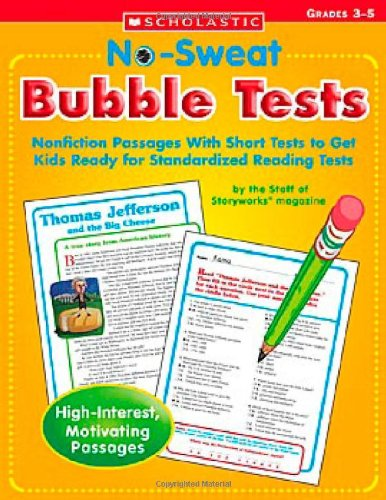 9780439625746: No Sweat Bubble Tests: Nonfiction Passages With Short Tests to Get Kids Ready for Standardized Reading Tests