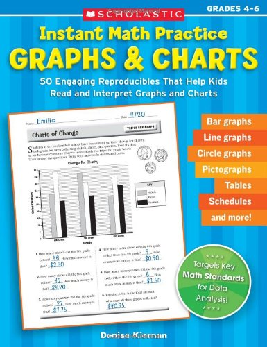 9780439629249: Instant Math Practice: Graphs & Charts (Grades 4-6): 50 Engaging Reproducibles That Help Kids Read and Interpret Graphs and Charts (Teaching Resources)
