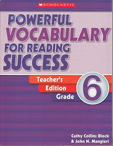 9780439640633: Powerful Vocabulary for Reading Success: Grade 6: Teaching Guide