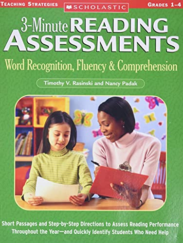 9780439650892: 3-Minute Reading Assessments: Word Recognition, Fluency, and Comprehension: Grades 1-4 (Three-minute Reading Assessments)