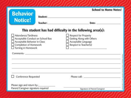 9780439651882: School To Home Notes Behavior Notice!