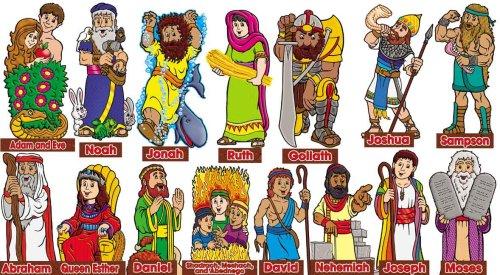 9780439654777: Old Testament Characters! Bulletin Board