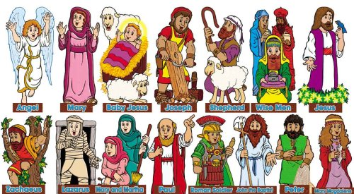 9780439654784: New Testament Characters! Bulletin Board