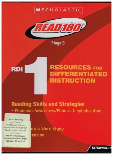 Read 180 Stage B Resources for Differentiated Instruction #1: Scholastic Inc