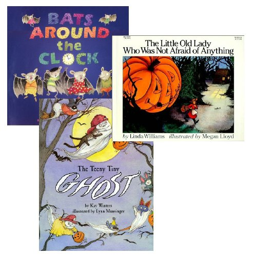 9780439694230: Spooky Halloween Pack (3 Books) (The Little Old Lady Who Was Not Afraid of Anything, Bats Around the Clock, The Teeny Tiny Ghost)